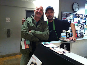 Photo: David with Magnum printer Pablo