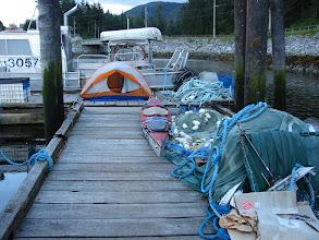 Photo: Campsite on the dock in Klemtu.