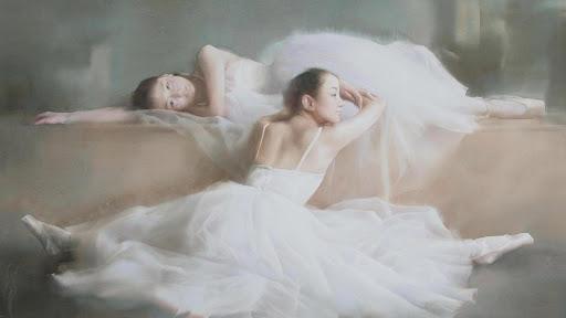 Dance art. Ballet. Wallpaper