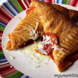 Homemade Pizza Pocket.