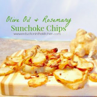 Olive Oil and Rosemary Sunchoke Chips.