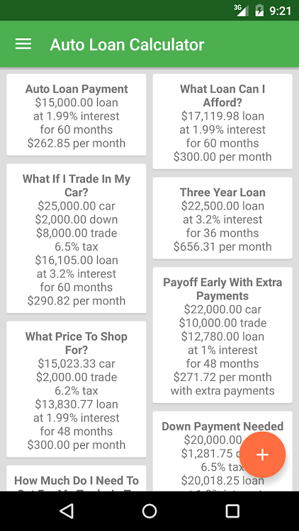 Auto Loan Calculator Android Apps Appagg