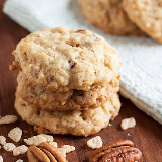 Crunchy Chewy Coconut Oatmeal Cookies.