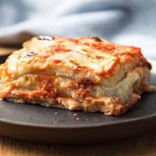 "Vegan Italian-American Lasagna With ""Ricotta""."