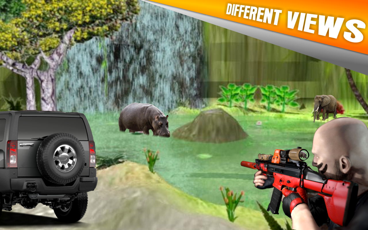 Animal Hunting:Jeep Drive Simulator- screenshot