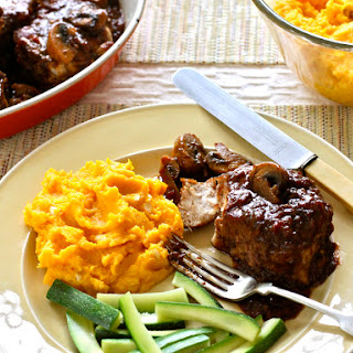 Buttercup Squash & Smothered Pork Chops.