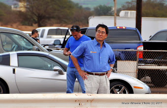 Photo: Ed Fujinaka, president of United Auto Parts / NAPA Auto Parts in Maui, was at the track in support of funny car star, Ron Capps' appearance