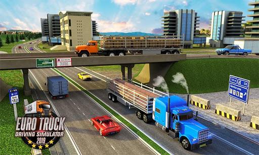 Télécharger Gratuit Euro Truck Driving Simulator Transport Truck Games APK MOD (Astuce) screenshots 5