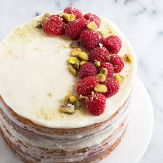 Coconut Raspberry Cake.