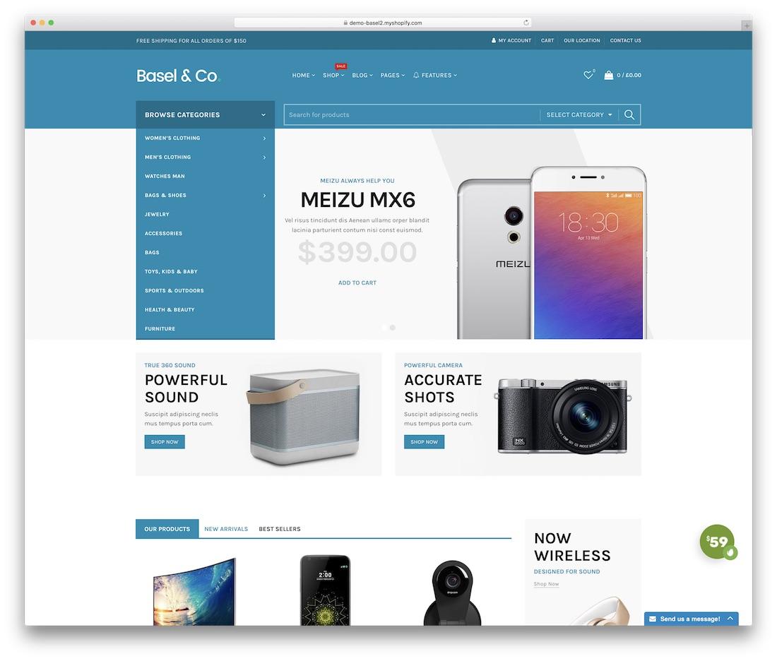 Shopify technology themes