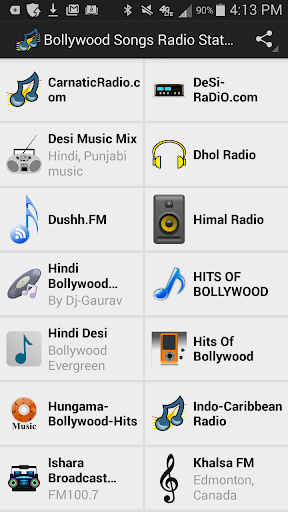 Bollywood Songs Radio Stations
