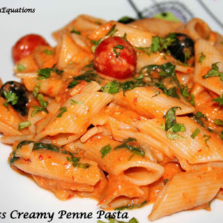 Creamless Creamy Penne Pasta.