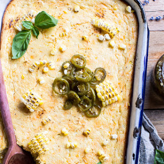 Sweet Kentucky Bourbon Corn Pudding with Candied Jalapeños