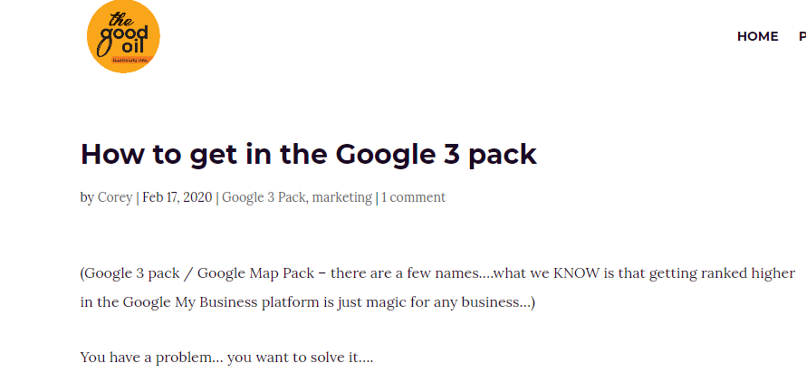 How to get in the Google 3 Pack - digital marketing