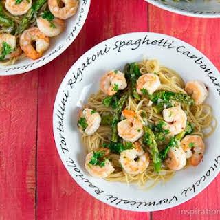 Shrimp Scampi & Asparagus Pasta.