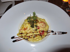 Photo: Risoto with choriso and shrimp at Les Pyrennees