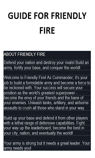 Guide For Friendly Fire