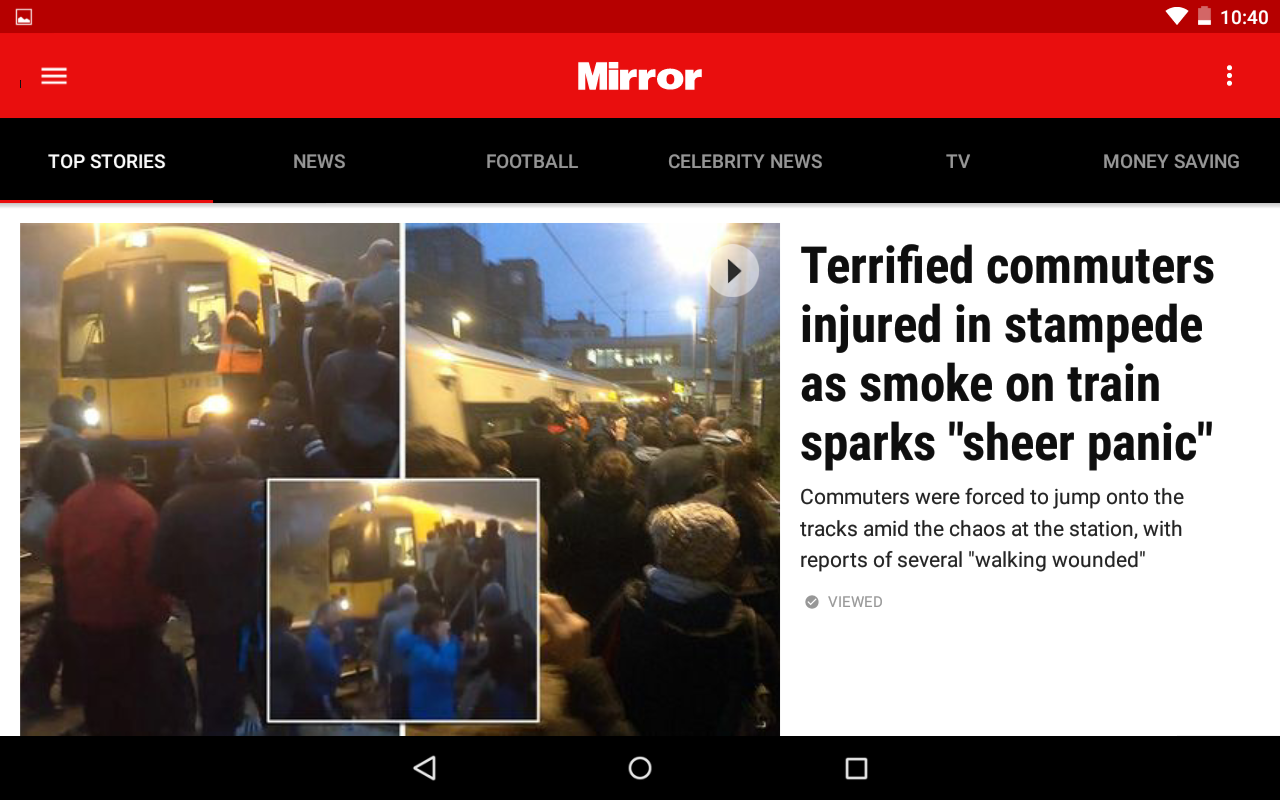 The Mirror App: Daily News- screenshot