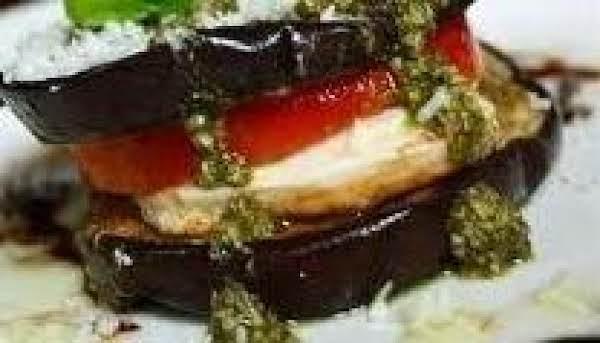 Eggplant Caprese Stackers