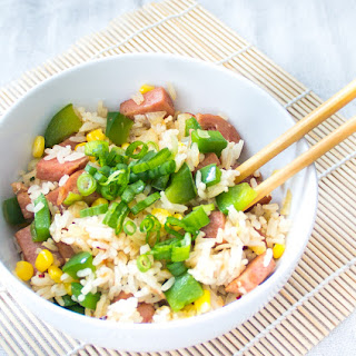 Spam Fried Rice {Sunrise Fried Rice}.