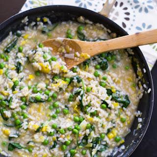 Spring Leek and Pea Risotto #HealthySpring #KitchenIQ.
