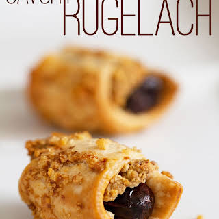 Savory Rugelach with Blue Cheese, Dates, and Walnuts.