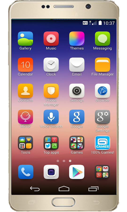 Launcher for iPhone 7- screenshot