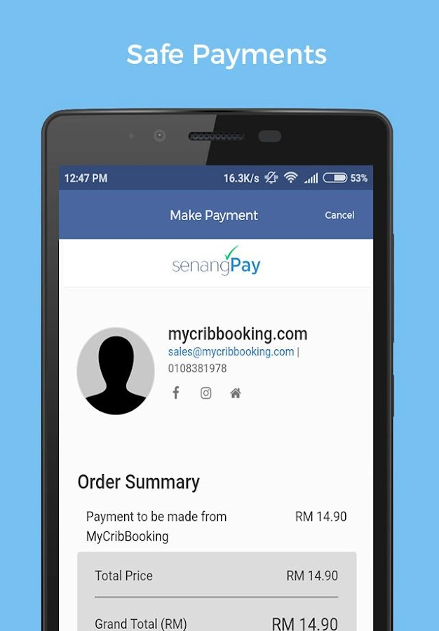 MyCribBooking- screenshot