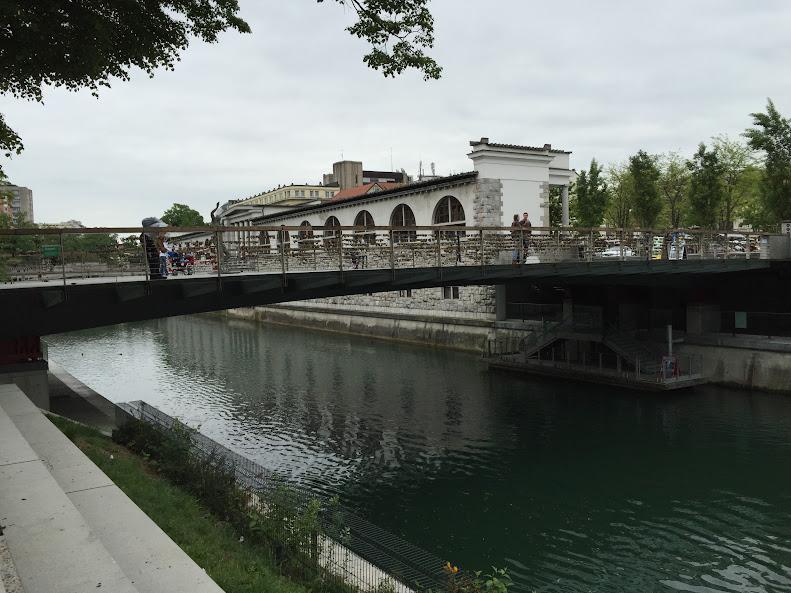 リュブリャナ旧市街 肉屋の橋