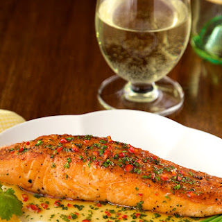 Pan-Seared Salmon with Orange-Coconut Sauce