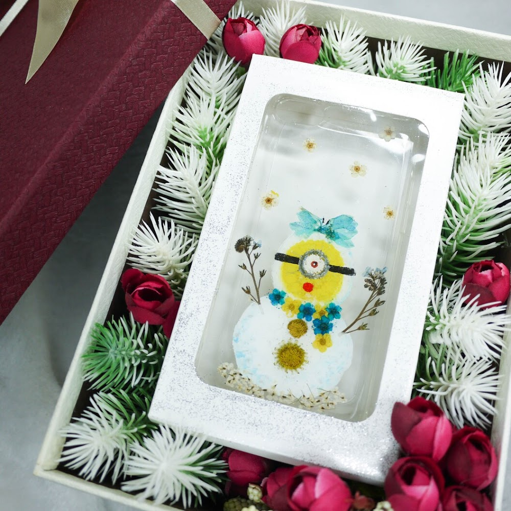 [訂製/custom-made] Minions Pressed Flower Phone Case