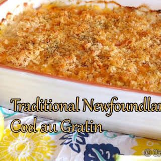 Traditional Newfoundland Cod au Gratin.