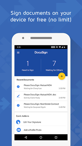 DocuSign - Upload & Sign Docs 3.13.0 screenshots 1