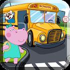 Niños del autobús escolar icon