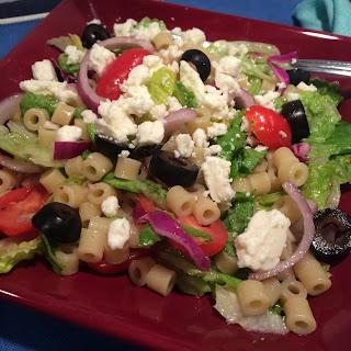 Greek Pasta Salad Bowl Recipe