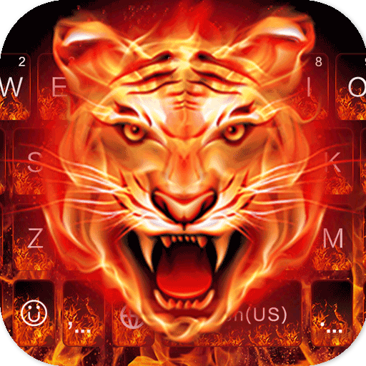 Fire Tiger New Keyboard Theme