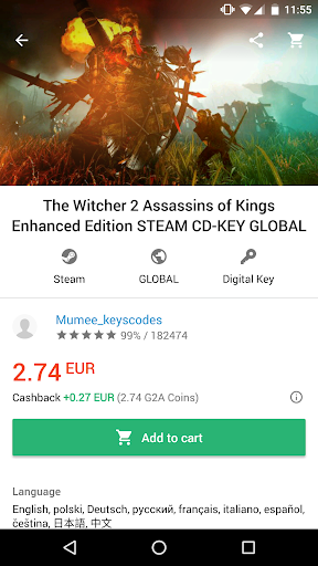 G2A - Game Stores Marketplace 1.10.3 screenshots 2