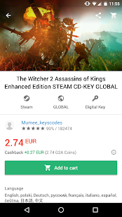 G2A - Game Stores Marketplace - náhled