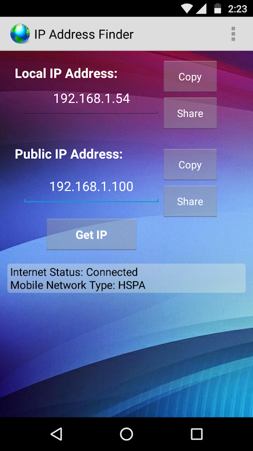 My IP Address Finder- screenshot