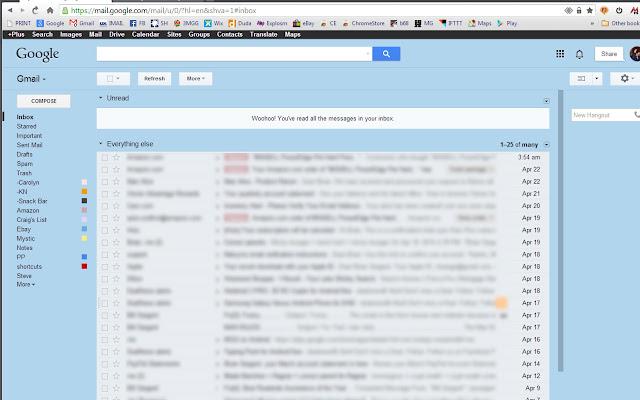 Missing Gmail™ & Google™ Black Bar