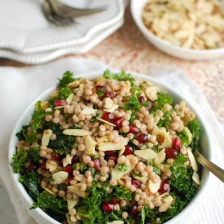 Kale Couscous Pomegranate Salad