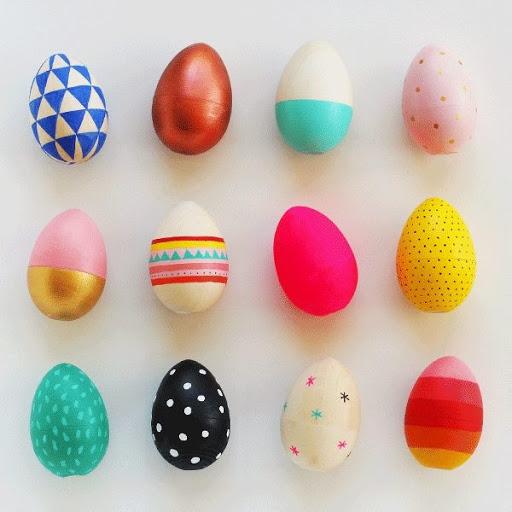diy œufs de Pâques de couleurs