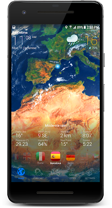 3D EARTH PRO - local weather forecast & rain radarのおすすめ画像3