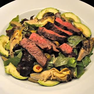 Steak Salad, Artichoke Hearts.