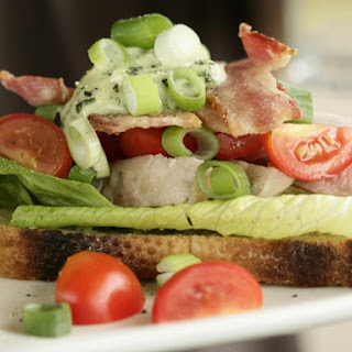 Open Face Chicken Club Sandwich