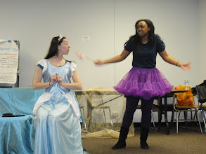 "Photo: As part of the Readings on the Road - Staged Reading Series ""A Princess Who Would Not Cry"" - in rehearsal!"