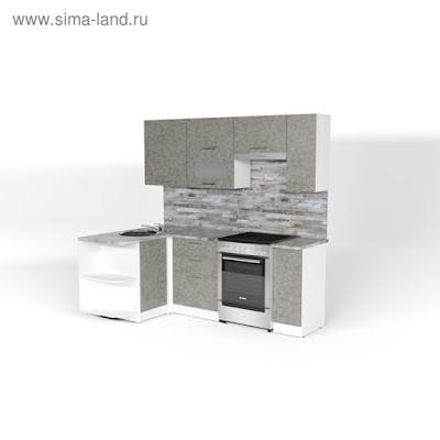 Кухонный гарнитур Валерия прайм 2 1300*2100 мм