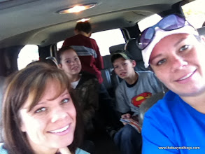 Photo: I loaded up the kids and grab my sister and headed to town!