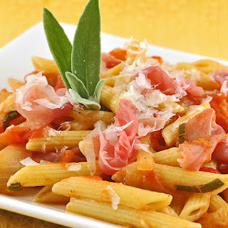 Penne with Tomato-Sage Sauce and Prosciutto
