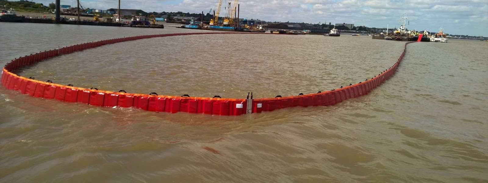 A red fob boom in the sea